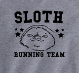 Trendy Pop Culture Sloth racing running team marathon couch potato lazy son fat horizontal running  Tee T-Shirt Ladies Youth Unisex - Animetee - 2