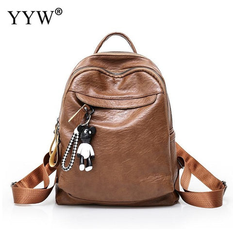... Solid PU Leather Small Backpack Female Ita Bag School Backpacks for  Children a case for Phone 911619e139122