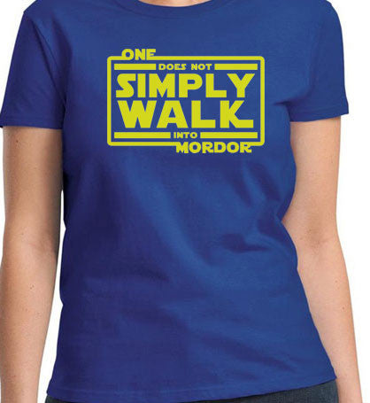 Star Wars Simple Does not walk Mordor Lord of Rings T-Shirt - Animetee - 1
