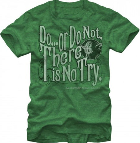 Officially Licensed Yoda Do or Do Not Star Wars Unisex T-Shirt - Animetee