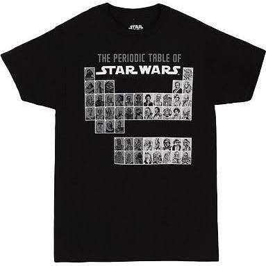 Officially Licensed Star Wars Periodical Elements T-Shirt - Animetee