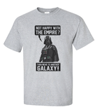 Premium Star Wars Not Happy with Empire Then Move to another galaxy Darth Vader Tee T-Shirt - Animetee - 2