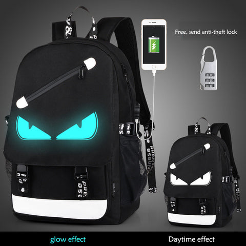 Style Women Backpack Cartoon USB Waterproof Anime Luminous School Bags For Teenagers Famous Brands Designer Backpack Men ouluodi Official Store 2