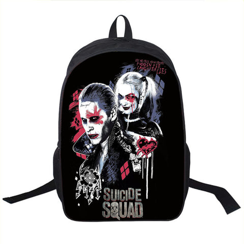 1aca4a9830d ... Suicide Squad   Harley Quinn   Joker Backpack Women Men Daily Backpack  Students School Bags For  Student Backpack Children ...