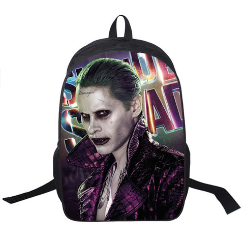 ad9b9a6f6dac ... Suicide Squad   Harley Quinn   Joker Backpack Women Men Daily Backpack  Students School Bags For  Student Backpack Children ...
