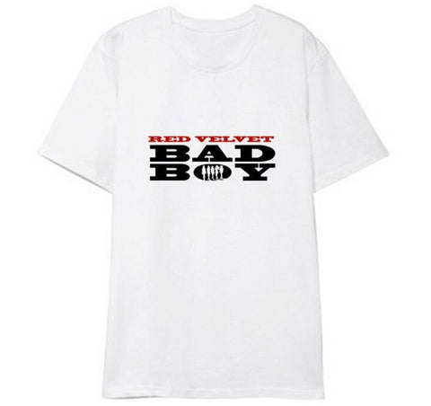 Summer new arrival bad boy album red velvet o neck t shirt kpop unisex fashion short sleeve t-shirt k-pop lovers top tees Mr Right's Collection 1