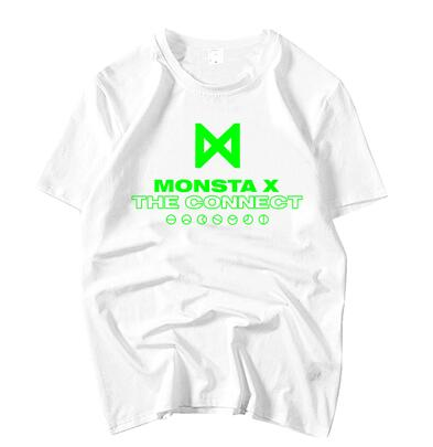 Summer unisex loose monsta x the connect album same printing o neck short sleeve t-shirt kpop monbebe fashion t shirt top tees Mr Right's Collection 1