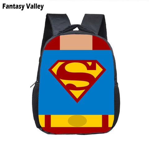 Toddler Backpack Class Super Hero Ironman Deadpool Small Backpack