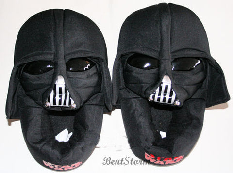 best website cheap sale get new Licensed cool NEW Star Wars DARTH VADER Soft Plush Slippers House ...