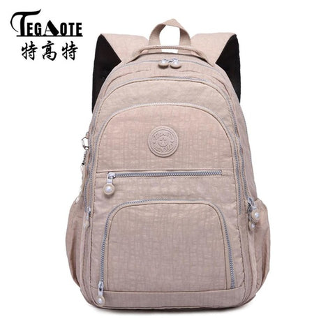 e9a6cea2d6 TEGAOTE School Backpack for Teenage Girl Mochila Feminina Women Backpacks  Nylon Waterproof Casual Laptop Bagpack Female
