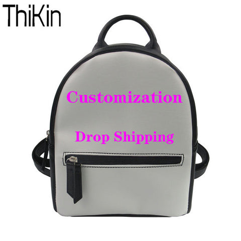 7392d10b574 THIKIN Bts Printing Women Backpack for Teenager Girls Pu Leather Backpacks  Students College School Bagpack Ladies