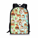 THIKIN Pugs Schoolbags For Children Girls Boys Fashion Bookbags Brand Designer Students Backapcks Women Corgi Mochila Escolar Loveu Adorable Bags Store 2