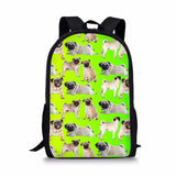 THIKIN Pugs Schoolbags For Children Girls Boys Fashion Bookbags Brand Designer Students Backapcks Women Corgi Mochila Escolar Loveu Adorable Bags Store 5