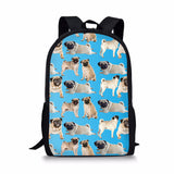 THIKIN Pugs Schoolbags For Children Girls Boys Fashion Bookbags Brand Designer Students Backapcks Women Corgi Mochila Escolar Loveu Adorable Bags Store 7