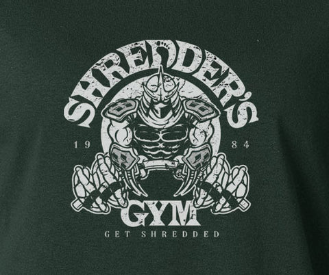 TMNT Teenage Mutant Ninja Turtles Shredder's Gold Gym Parody tee T-Shirt 80's - Animetee - 1