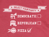 Trendy Pop Culture TMNT Teenage Mutant Ninja Turtles Pizza Party Funny Democratic Republic Tee t-shirt tshirt Unisex Ladies - Animetee - 2