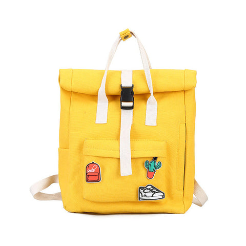 c88f880f2eff ... TTOU Women Fashion Backpack with Cute Badge Large Capacity Canvas  Backpack Casual School Backpack for Teenager ...