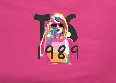 Taylor Swift Abstract Retro 1989 Heliconia Tee T-shirt - Animetee - 1