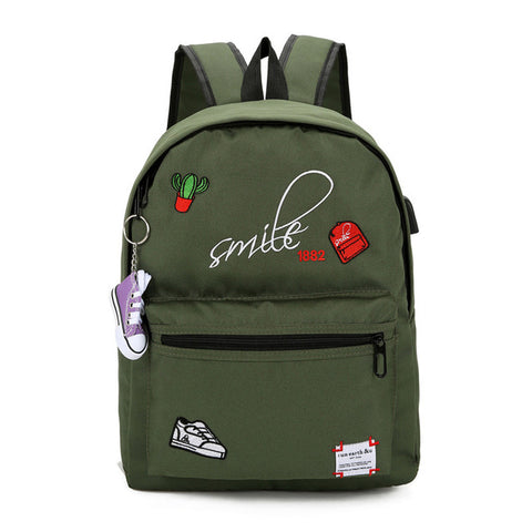 School Backpack Teens Canvas School Bags For Teenage Girls Backpack Schoolbag Women Usb Large Capacity Student Bags Black Book Bag For Teenagers