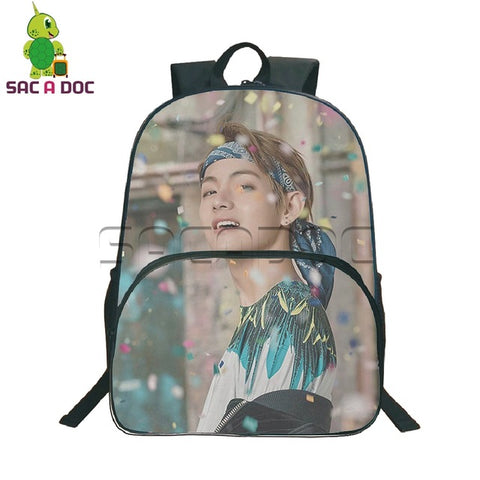 Teens Kpop BTS Bangtan Boys Army Backpack Women Men Hip Hip Bags SUGA V JIMIN School Backpacks for Teenagers Girls Boys Bookbags Shop3126025 Store 1