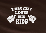 Trendy Pop Culture This guy loves his kids family man trophy husband father world's greatest dad Tee T-Shirt Ladies Youth Adult Unisex - Animetee - 2