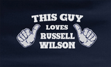Trendy Pop Culture This guy loves Russell Wilson Seahawks 3 Dangeruss legging Tee T-Shirt Ladies Youth Adult Unisex - Animetee - 2