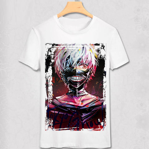 Tokyo Ghoul T-shirts New Japan Anime Kaneki Ken Adjustable Zipper Cosplay Costume Animation Cartoon Ninja Creative 3D T Shirts Abby Happy Store 1