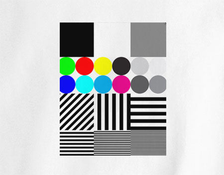 Broadcast calibration hipster Extreme tone test pattern with colour Tee T-Shirt 80's - Animetee - 1