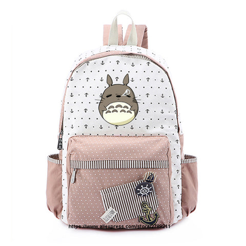 Totoro school bags for Women Girls Anime Backpack School Bags Canvas Cartoon Book My Neighbour Totoro Printed Shop2788211 Store 18