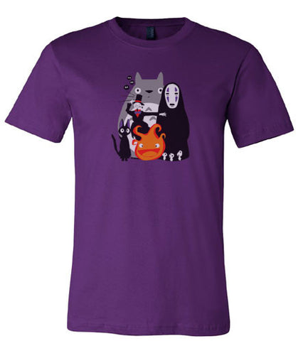 Totoro Howl's Moving Castle Spirited Away T-Shirt - Animetee - 2