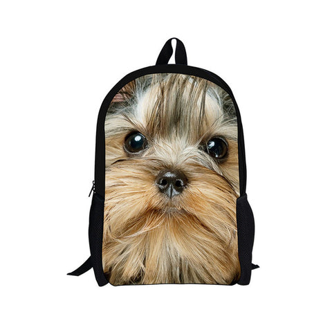Trendy Children School Bags for Girls Boys 3D Animals Pugs Pet Bookbags Cute Puppies French Bulldog Print Kids bag noisydesigns dropshopping Store 1