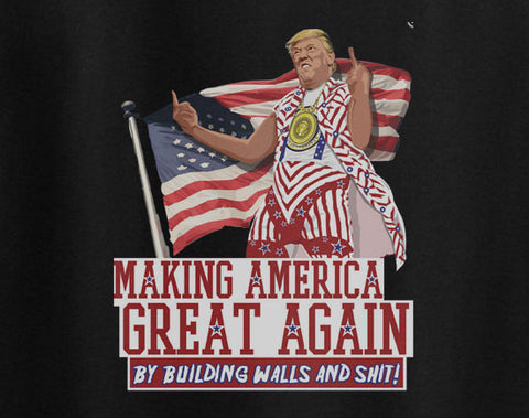 Donald Trump Making America Great Again Building walls tee t-shirt - Animetee - 1