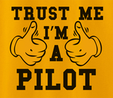 Trendy Pop Culture Trust me i'm a pilot airline airplane co pilot  Tee T-Shirt Ladies Youth Adult Unisex - Animetee - 2