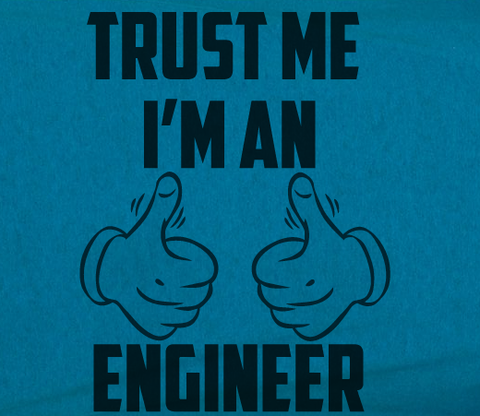Trendy Pop Culture Trust me I'm an engineer Computer electrical software Tshirt Tee T-Shirt Ladies Youth Adult Unisex - Animetee - 2