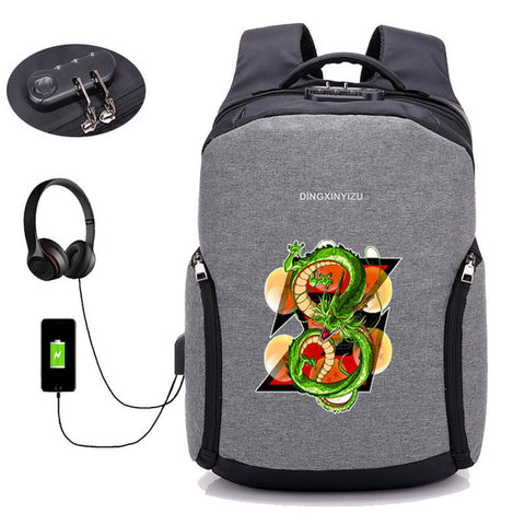 USB Charge Anti-theft Backpacks Japan anime Dragon Ball Z backpack student book backpack teenagers men Travel backpack package COSPLAY81888 Store 1