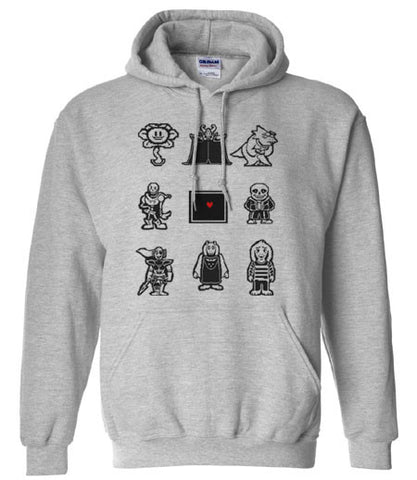 Undertale Characters This is your soul Hoodie Hooded Sweatshirt - Animetee - 1