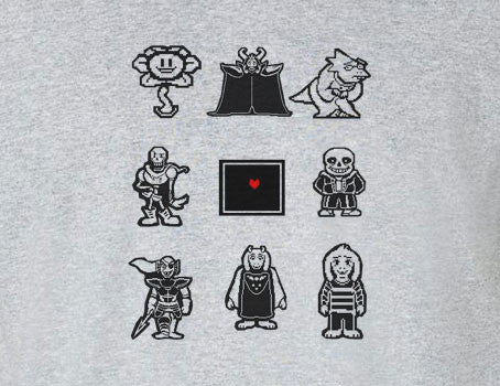Undertale Characters This is your soul Tee T-Shirt Shirt - Animetee - 1