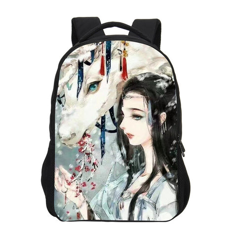 VEEVANV 3D Cartoon Women Backpack School Backpack Girls Chinese Anime Printing Shoulder Bag Fashion Children Mochila Boy Bookbag VEEVAN PESONALITY WOMEN HANDBAG 10