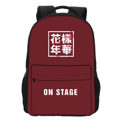 VEEVANV Men's Backpack New BTS EXO GOT7 BAP Printing Backpack School Bookbag Childern Fashion Hip Hop Mochila Girls Shoulder Bag VEEVAN Bags 1