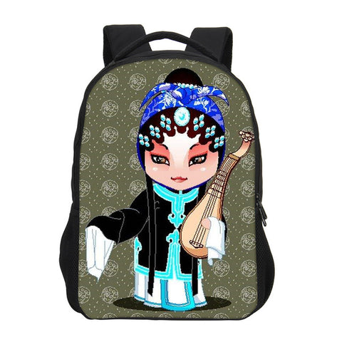 f8cd041624 ... VEEVANV School Bags Chinese Beijing Opera Design Backpack Fashion Girls  Mochila Cartoon Children Shoulder Bag Boy ...