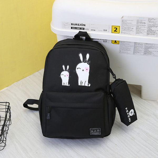 62a41bf333 School Backpack trendy VOLESS New Preppy Stylish Canvas Printing Backpack  Women School Bag for Teenage Girls Cute 2 Set Travel Backpacks Female  Bagpack ...