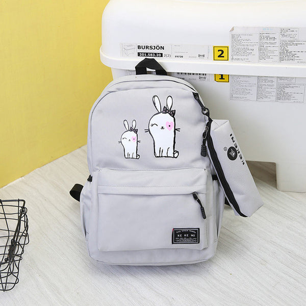 899e17246f School Backpack trendy VOLESS New Preppy Stylish Canvas Printing Backp –  2018 AT 142 30 (Animetee.com Friends)