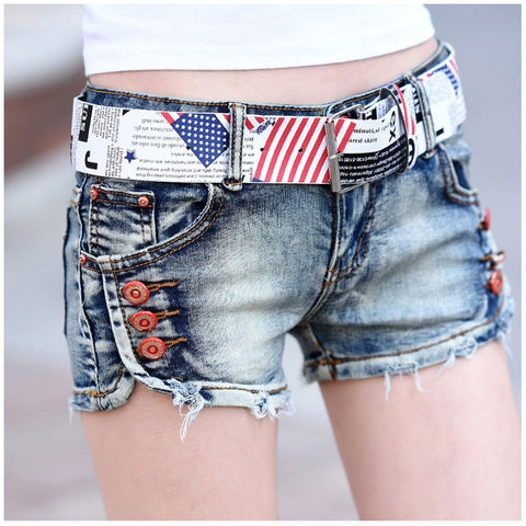 Summer Shorts 2020.Hot Shorts Vintage Blue Summer Short Jeans 2018 Fashion Low Waist Womens Denim With Button Casual Female Jeans With Beltat 43 3