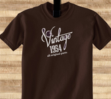 Trendy Pop Culture Vintage since All Original parts Made in 1954 60 61 62 63 63 64 65 year old birithday Tshirt Tee T-Shirt Ladies Youth Adult Unisex - Animetee - 1