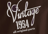 Trendy Pop Culture Vintage since All Original parts Made in 1954 60 61 62 63 63 64 65 year old birithday Tshirt Tee T-Shirt Ladies Youth Adult Unisex - Animetee - 2