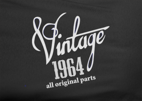 Trendy Pop Culture Vintage since All Original parts Made in 1964 45 46 47 47 49 50 year old birithday Tshirt Tee T-Shirt Ladies Youth Adult Unisex - Animetee - 2