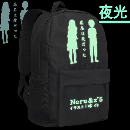 Vocaloid Miku Anime Akita Neru School Bag Japanese Songs Male Female Schoolbag Mochila Travel Backpack Shoulders Bags Bag-Show Store 1