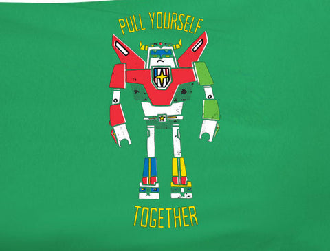 80s Hit Cartoon Voltron Abstract style hipster Pull yourself together tee t-shirt 80's - Animetee - 1