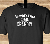 Trendy Pop Culture World's best Dad Grandpa son father gift Tshirt Tee T-Shirt Ladies Youth Adult Unisex - Animetee - 2