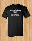 Trendy Pop Culture World's best Dad Grandpa son father gift Tshirt Tee T-Shirt Ladies Youth Adult Unisex - Animetee - 1